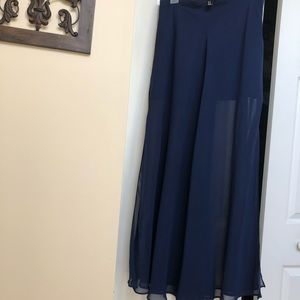 Forever 21-sheer long skirt w/ short lining.